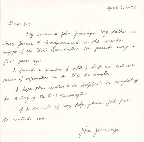 John Jennings - Son-in-law Letter