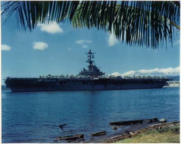 CVS-20 departing Pearl Harbor