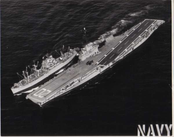1/22/58 is Bennington refueling USS Paricutin AE-18
