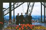 JEP_and_3_unknown_men_at_Eiffel_Tower_1953