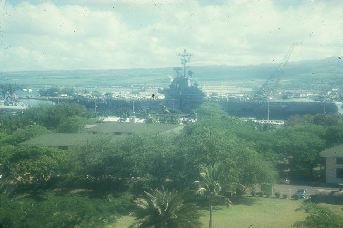 CVS-20 USS BENNINGTON AT PEARL HARBOR