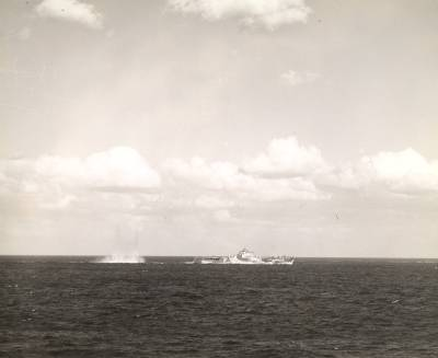 Taken from USS Hornet (CV-12) on 18 Mar 1945