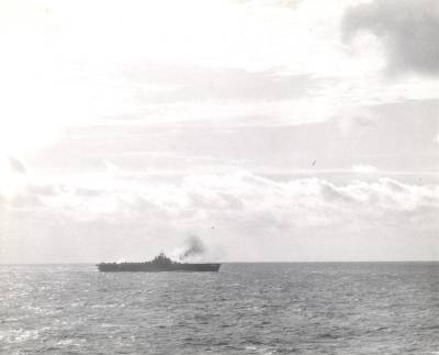 Taken from USS Hornet (CV-12) on 19 Mar 1945