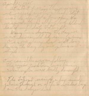 James F Brady WWII Log Book 16 Apr 1945