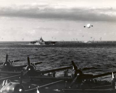 Taken from USS Hornet (CV-12) on 14 May 1945