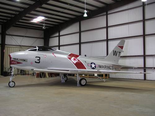 FJ-4 (BuNo139516) now at the Historic Aviation Museum Tyler, TX