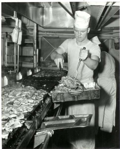 George Briggs cooking pork chops 1-16-58