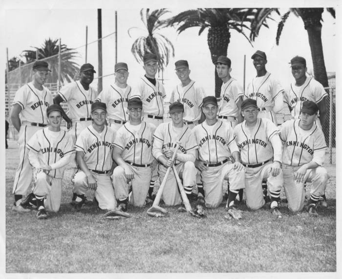 BENNINGTON BASEBALL TEAM 1959