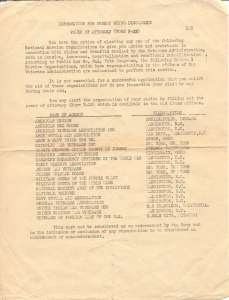 WAR YEARS Information For Discharge