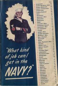 WAR YEARS NAVY JOBS