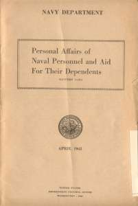 WAR YEARS Personal Affairs