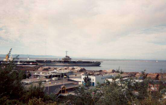 September 1994 - USS Bennington CVS-20 shortly after arrival in Port Angeles, Washington