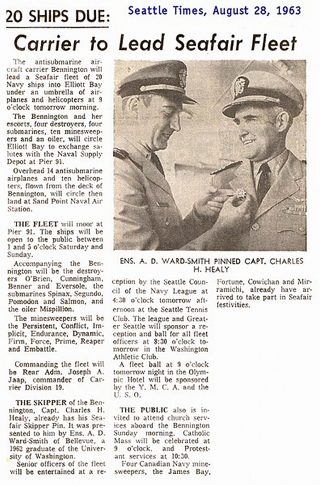 Newspaper clip of me and Captain Healy
