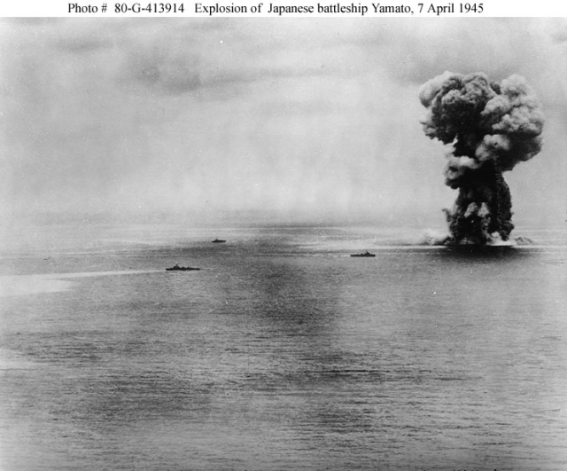 BENNINGTON Shares in Sinking of Japan's Super Battleship YAMATO
