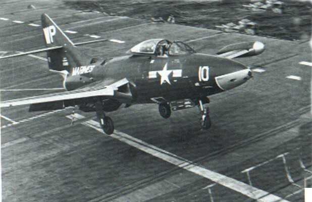 incoming F9F-4 Panther Jet