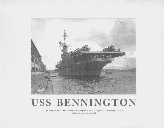USS BENNINGTON MINI POSTER